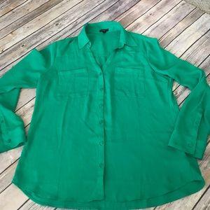 Express Portofino shirt size large green